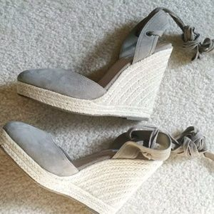 Steve Madden shoes espadrille Wedges Taupe gray
